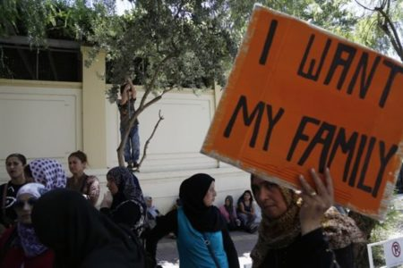 'No more waiting!' Syrians stuck in Greece protest at German embassy