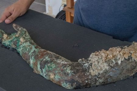 Antikythera shipwreck yields bronze arm – and hints at spectacular haul of statues