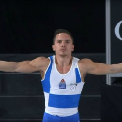 Lefteris Petrounias world champion on the still rings