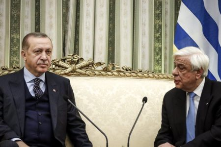 Turkish president's border comments draw rebuke from Greek hosts
