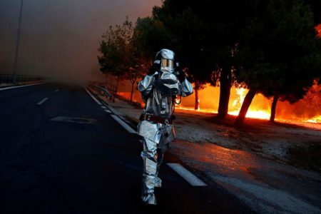 Greece battles raging forest fires, homeowners flee