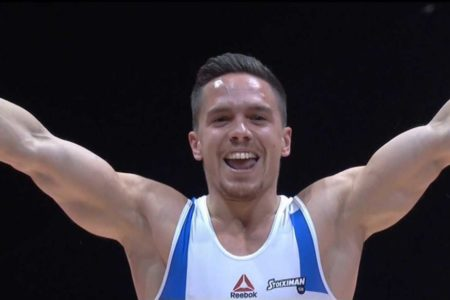 Lefteris Petrounias wins gold medal in the men's rings