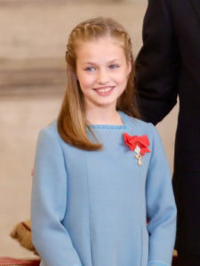 Heir to Spanish throne, 13, speaks publicly for first time
