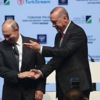 Putin, Erdogan mark key phase in natural gas pipeline
