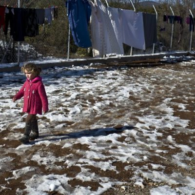 Cold weather reignites fears for refugees poorly sheltered in Greece