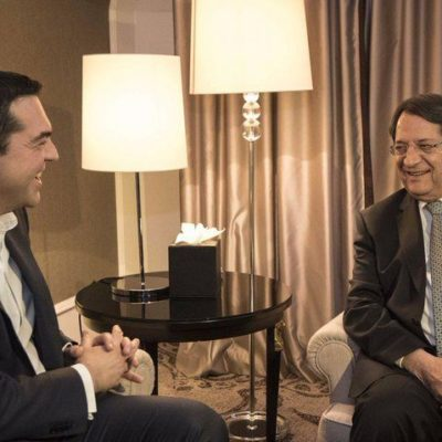 PM Tsipras meets with Cyprus President Anastasiades in Brussels