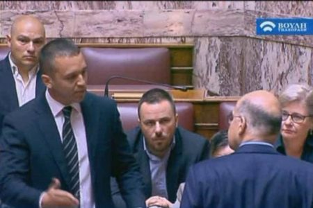 Golden Dawn MP Kasidiaris ejected from parliament session