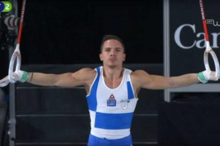 Lefteris Petrounias world champion on the still rings