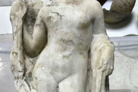 A headless statue of Aphrodite unearthed at Thessaloniki metro