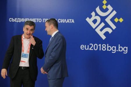 Tsakalotos presents plan to Eurogroup